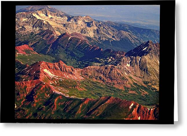 Colorful Colorado Rocky Mountains Planet Art Poster  Greeting Card by James BO  Insogna