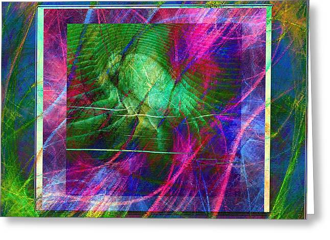 Green Barbara Griffin Art Greeting Cards - Colorful Compilation - Abstract Art Greeting Card by Barbara Griffin