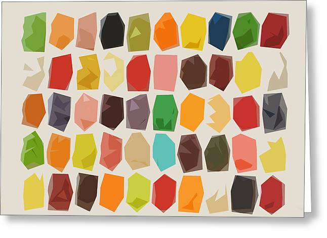 Colorful Crystal Abstract Greeting Card by Art Spectrum