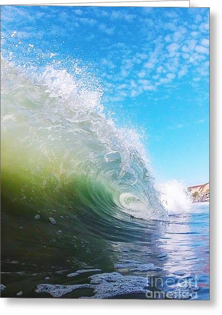 Santa Cruz Surfing Greeting Cards - Colorful Curl Greeting Card by Paul Topp