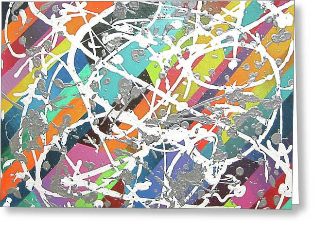 Jeremy Greeting Cards - Colorful Disaster AKA Jeremys Mess Greeting Card by Jeremy Aiyadurai