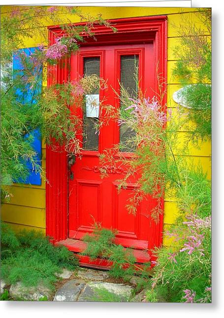 Farbenfroh Greeting Cards - Colorful Entrance ... Greeting Card by Juergen Weiss