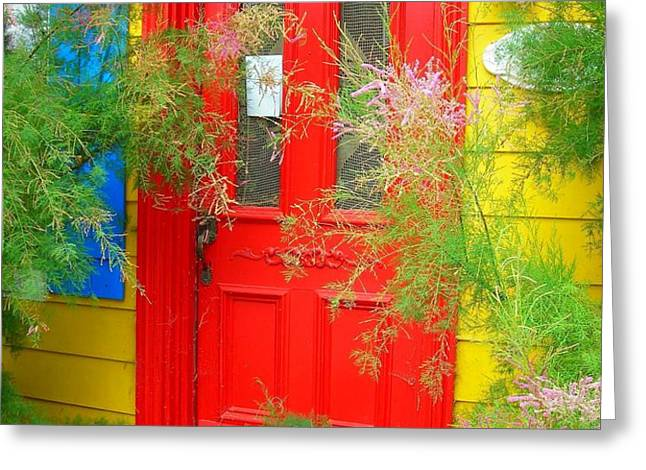 Colorful Entrance ... Greeting Card by Juergen Weiss