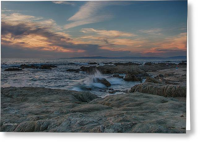California Central Coast Greeting Cards - Colorful Evening Sky Greeting Card by Bill Roberts