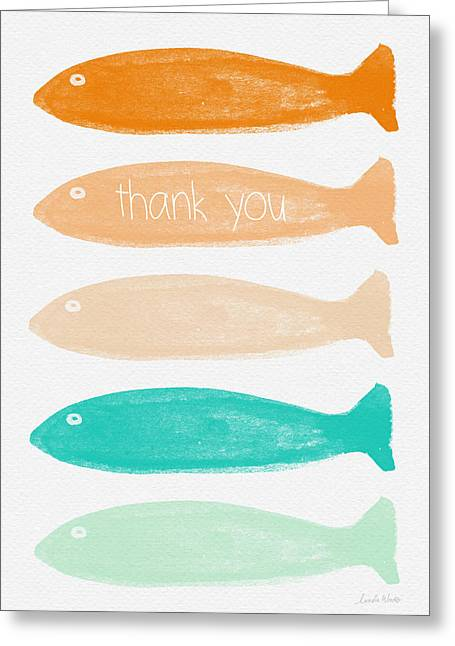 Thank You Greeting Cards - Colorful Fish Thank You Card Greeting Card by Linda Woods