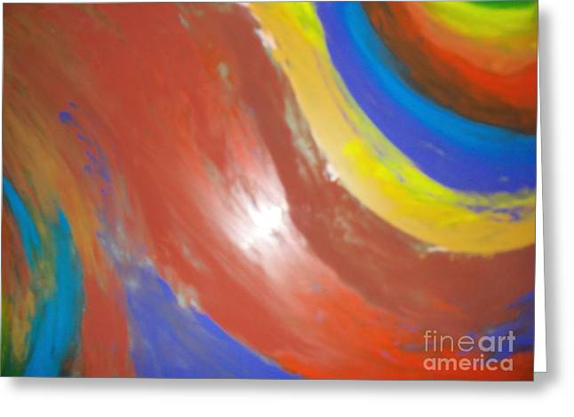 Flowing Glass Greeting Cards - Colorful Flame Greeting Card by Damion Powell