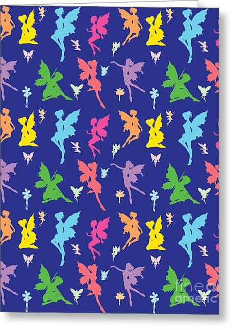 Tinker Bell Greeting Cards - Colorful Flying Fairy Greeting Card by Naviblue