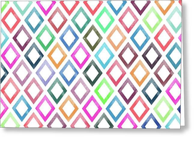Colorful Geometric Patterns  Greeting Card by Amir Faysal