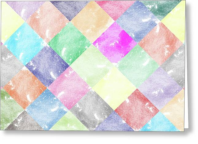 Colorful Geometric Patterns IIi Greeting Card by Amir Faysal