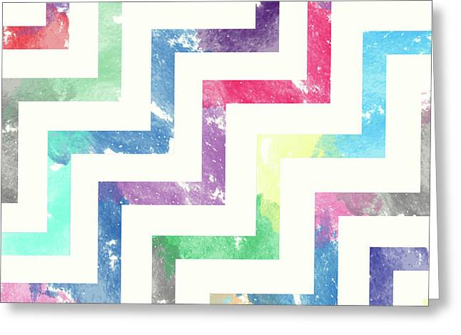 Colorful Geometric Patterns Vi Greeting Card by Amir Faysal