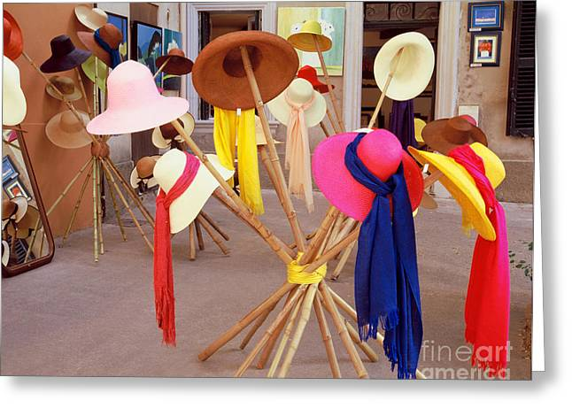Textile Photographs Greeting Cards - Colorful Hats Greeting Card by BM Noskowski