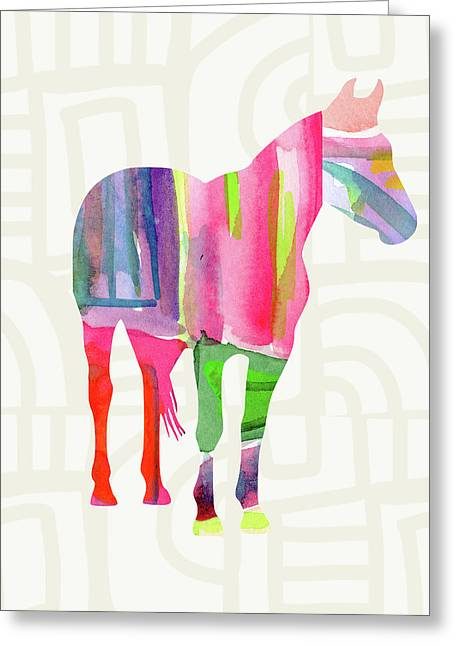 Colorful Horse 2- Art By Linda Woods Greeting Card by Linda Woods