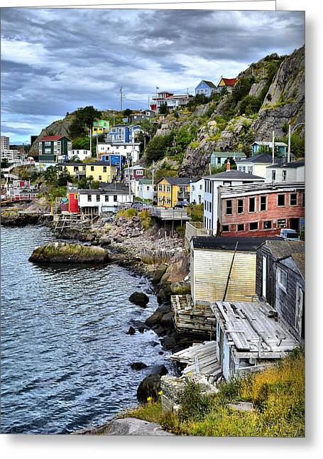 Newfoundland Greeting Cards - Colorful Houses Greeting Card by Steve Hurt