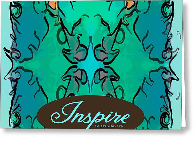 Blue Grapes Drawings Greeting Cards - Colorful Inspiration Abstract Art by Omashte Greeting Card by Omaste Witkowski