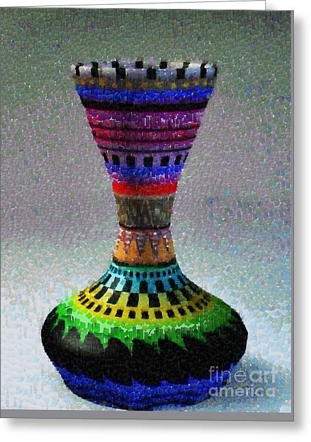 Chatty Greeting Cards - Colorful jar Greeting Card by Magomed Magomedagaev