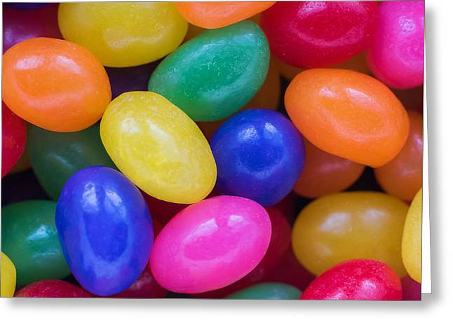 Colorful Jelly Beans Square Greeting Card by Terry DeLuco