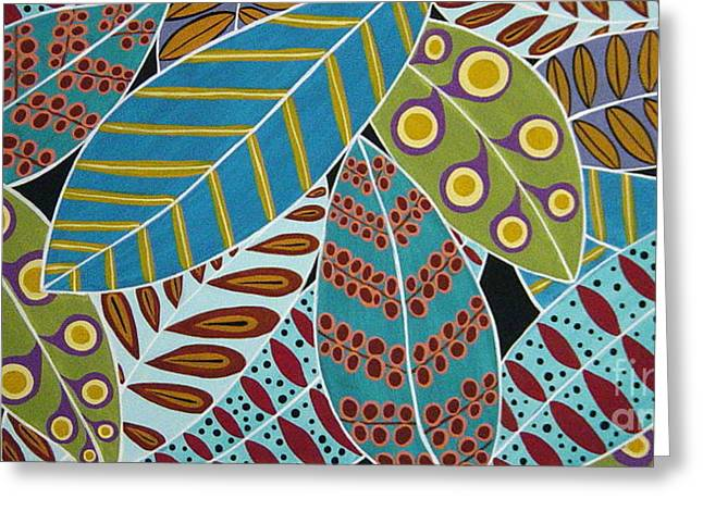 Leafs Greeting Cards - Colorful Leaves Greeting Card by Karla Gerard