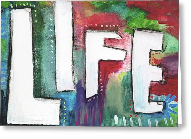 Colorful Life- Art By Linda Woods Greeting Card by Linda Woods