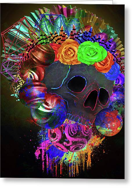 Colorful Life Greeting Card by Brad Bailey