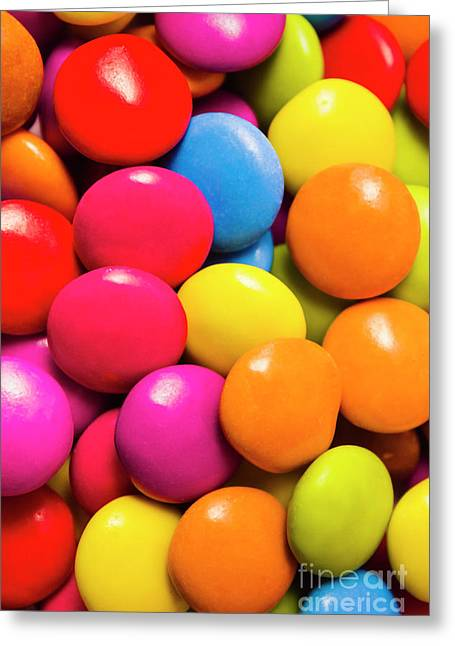 Colorful Lollies Macro Photography Greeting Card by Jorgo Photography - Wall Art Gallery