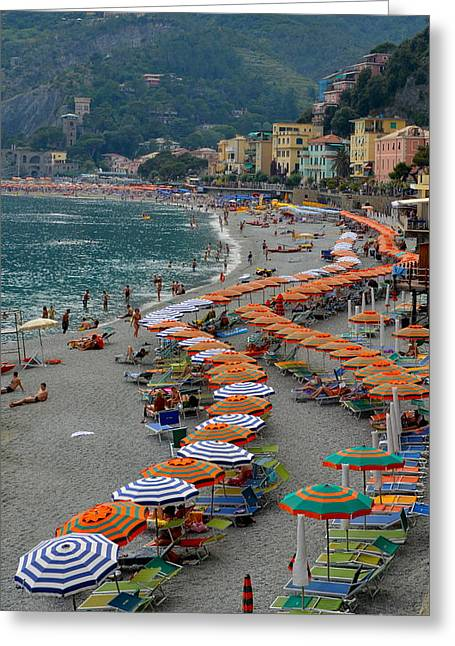 Monterosso Greeting Cards - Colorful Monterosso Greeting Card by Corinne Rhode