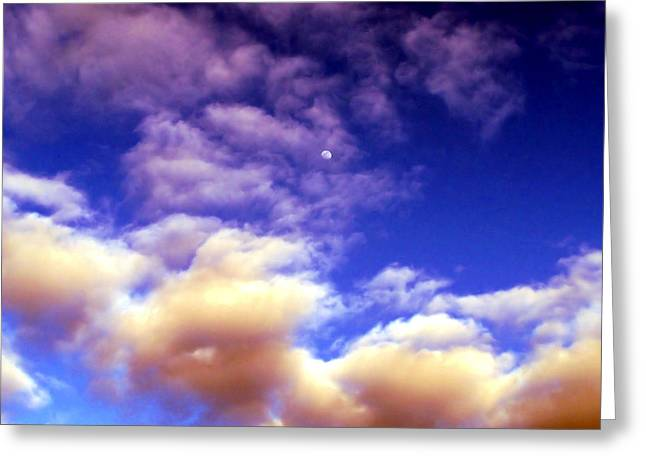 Outer Limits Greeting Cards - Colorful Moonscape Greeting Card by Karen M Scovill