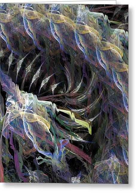 Fantasty Greeting Cards - Colorful Pandemonium Greeting Card by Sherry Holder Hunt