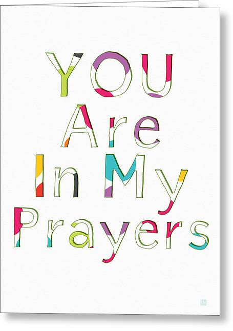 Colorful Prayers- Art By Linda Woods Greeting Card by Linda Woods