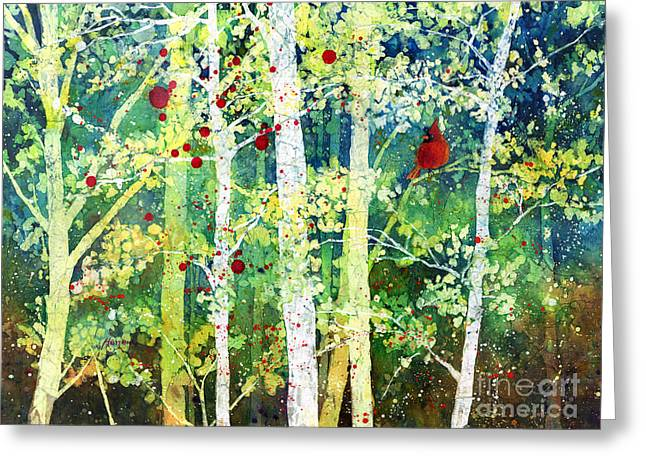 Treescape Greeting Cards - Colorful Presence Greeting Card by Hailey E Herrera