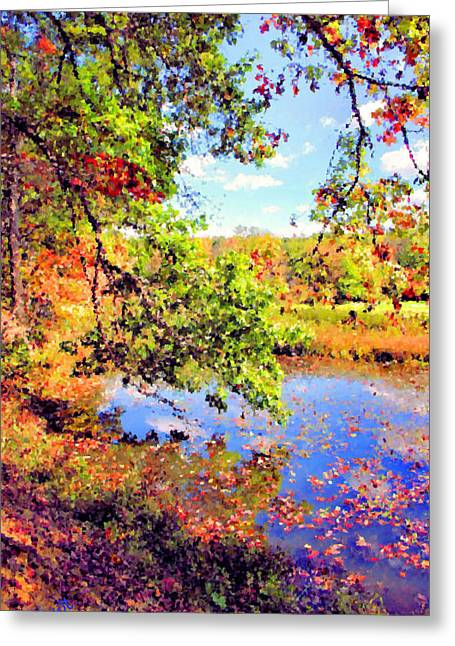 Kendall Greeting Cards - Colorful Reflections Greeting Card by Kristin Elmquist