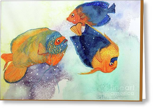 Sea Birds Greeting Cards - Colorful Seas Greeting Card by Sharon Nelson-Bianco