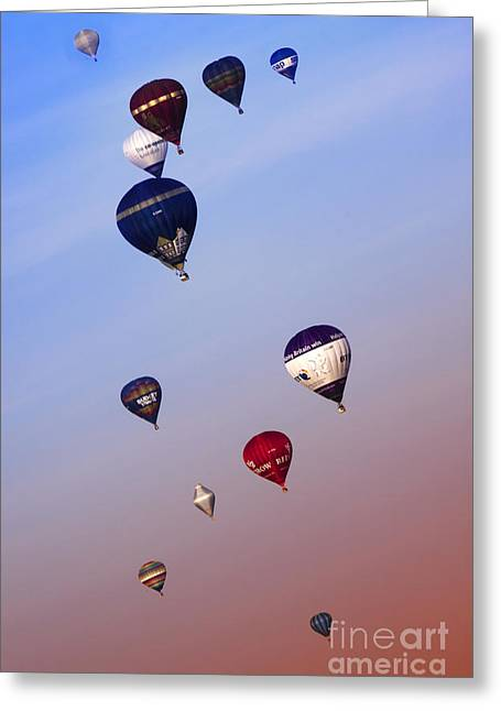 Weightless Greeting Cards - Colorful Skies Greeting Card by Angel  Tarantella