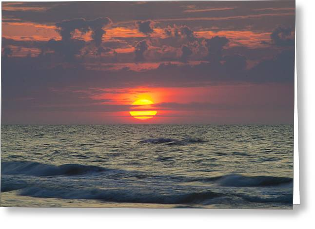 Beach Photography Greeting Cards - Colorful Skies at Sunrise Greeting Card by Bill Cannon