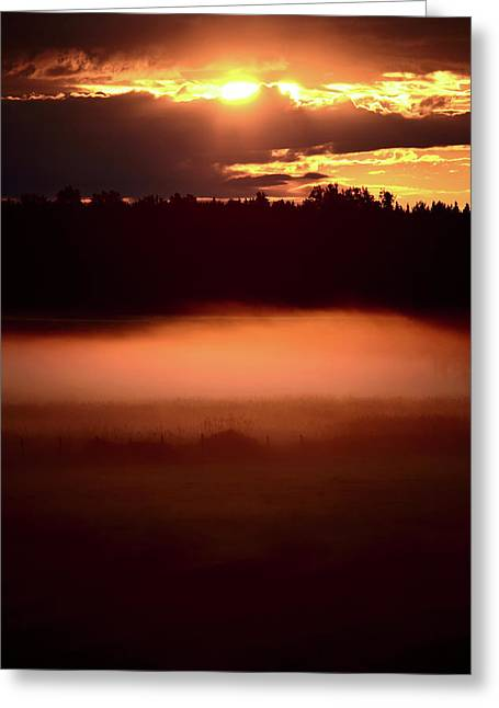 Sun Peaks Greeting Cards - Colorful skies nearing sunset Greeting Card by Mark Duffy