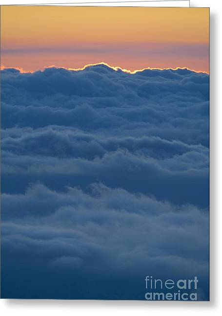 Colorful Cloud Formations Greeting Cards - Colorful Sky Above Clouds Greeting Card by Greg Vaughn - Printscapes