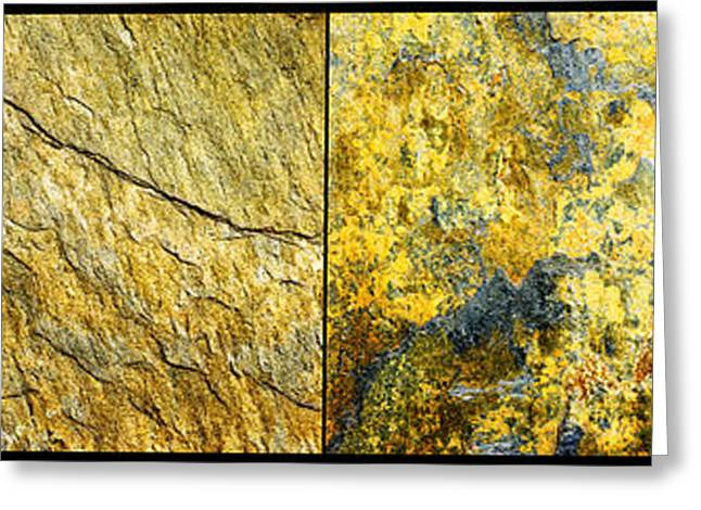 Erickson Greeting Cards - Colorful Slate Tile Abstract Composite H2 Greeting Card by Donald  Erickson