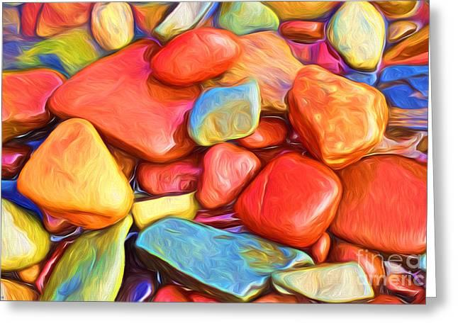 Colorful Stones Greeting Card by Veikko Suikkanen