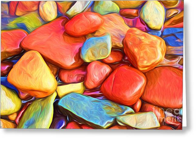 Nature Abstract Greeting Cards - Colorful stones Greeting Card by Veikko Suikkanen