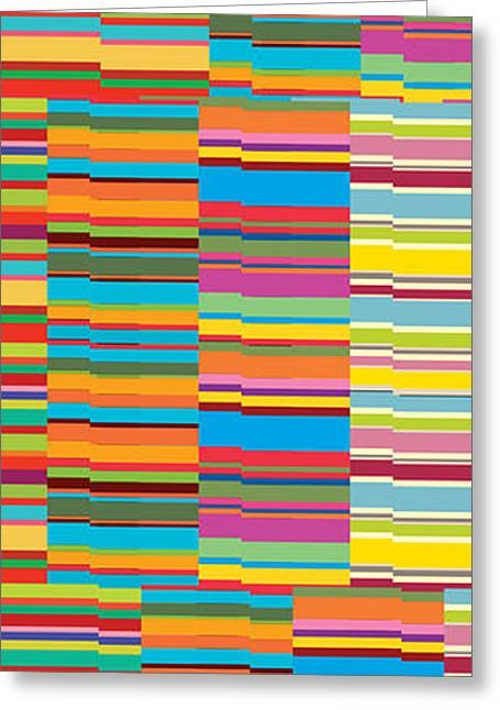Assorted Paintings Greeting Cards - Colorful Stripes Greeting Card by Ramneek Narang