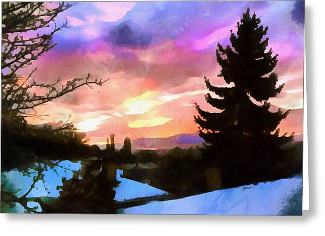 Anthony J Caruso Greeting Cards - Colorful Sunset Greeting Card by Anthony Caruso