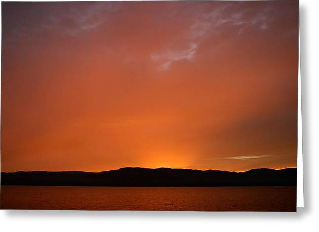 Inside Passage Photographs Greeting Cards - Colorful Sunset In Chatam Strait Greeting Card by Ralph Lee Hopkins