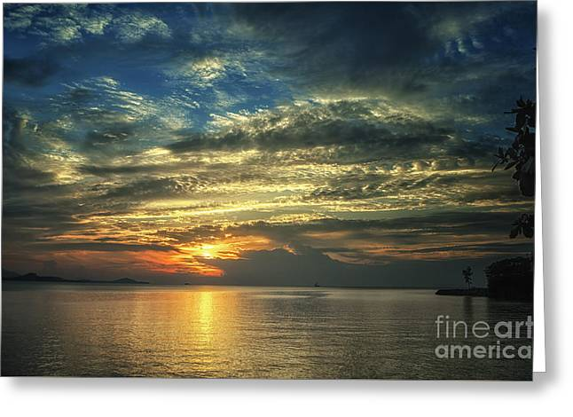 Michelle Greeting Cards - Colorful Sunset Greeting Card by Michelle Meenawong