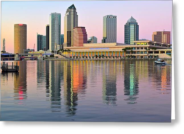 Epcot Center Greeting Cards - Colorful Tampa Bay Greeting Card by Frozen in Time Fine Art Photography
