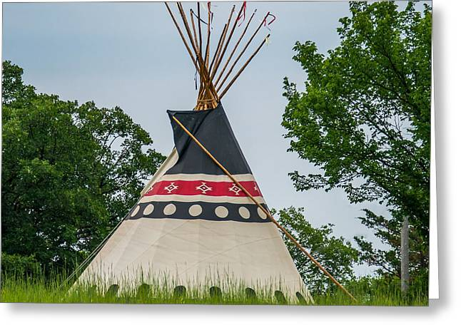 Colorful Tipi Greeting Card by Paul Freidlund