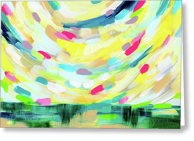 Colorful Uprising 3-  Art By Linda Woods Greeting Card by Linda Woods