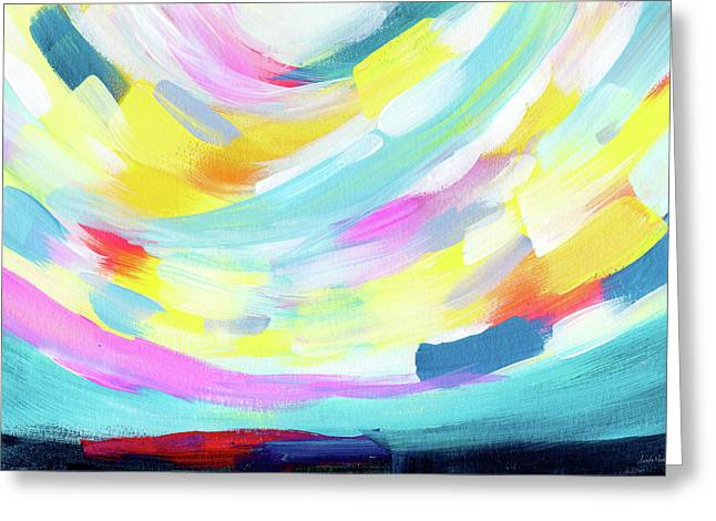 Colorful Uprising 4 - Abstract Art By Linda Woods Greeting Card by Linda Woods