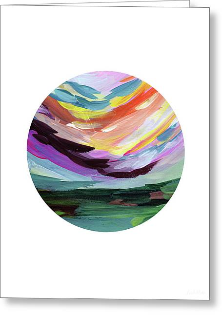 Colorful Uprising 5 Circle- Art By Linda Woods Greeting Card by Linda Woods
