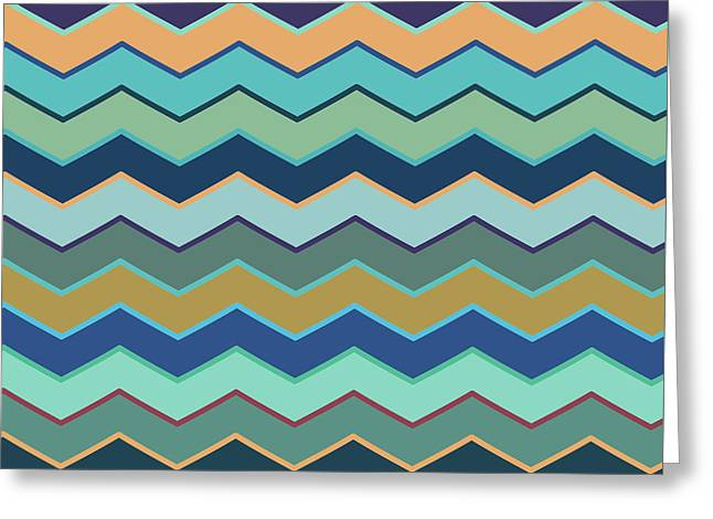 Colorful Wave II Greeting Card by Amir Faysal