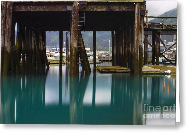 Pacific Ocean Prints Greeting Cards - Colorful Whittier Pier Greeting Card by Jennifer White