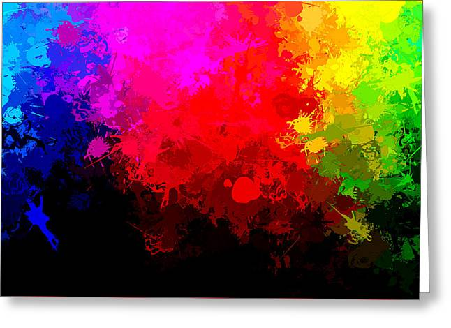 Abstruse Greeting Cards - Colors Above All Others Greeting Card by Bruce Nutting